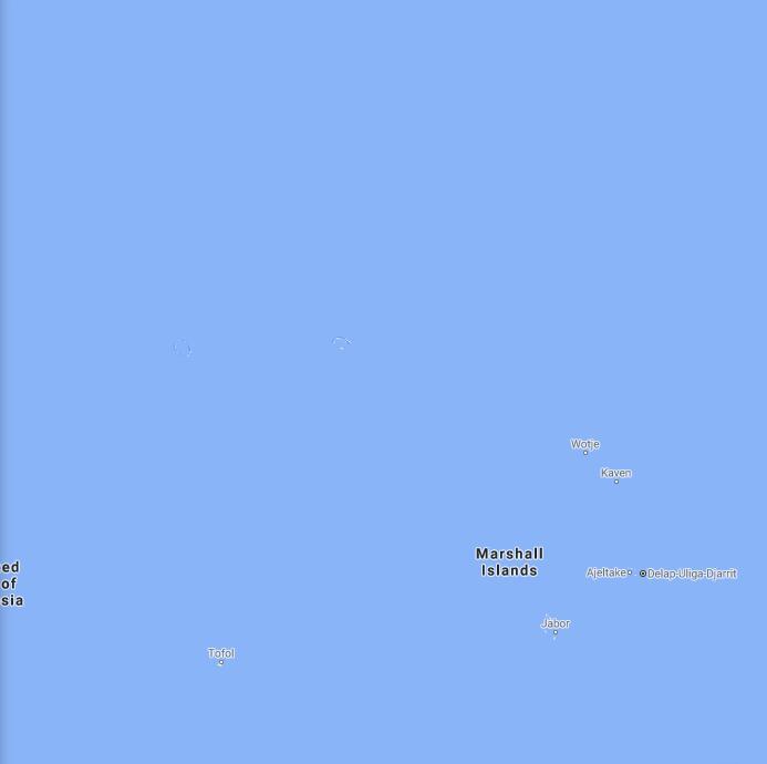 Marshall Islands Border Map