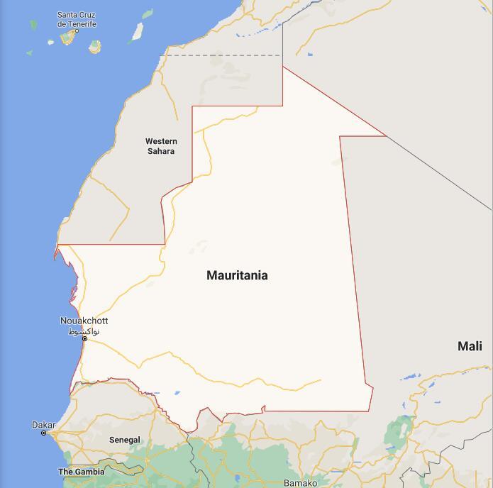 Mauritania Border Map