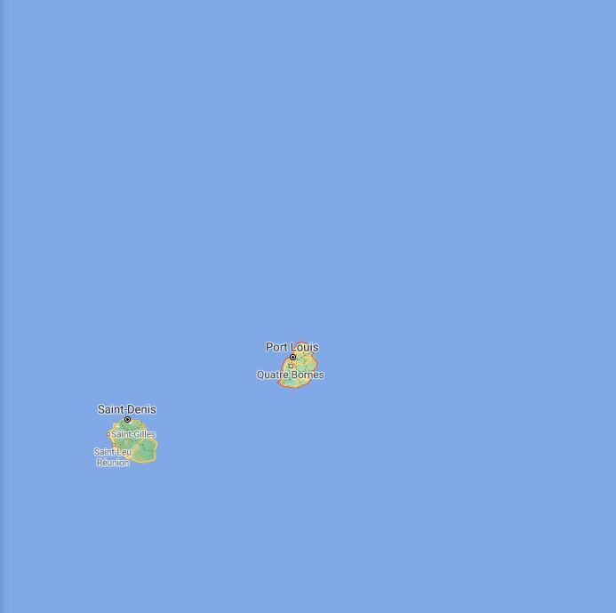 Mauritius Border Map
