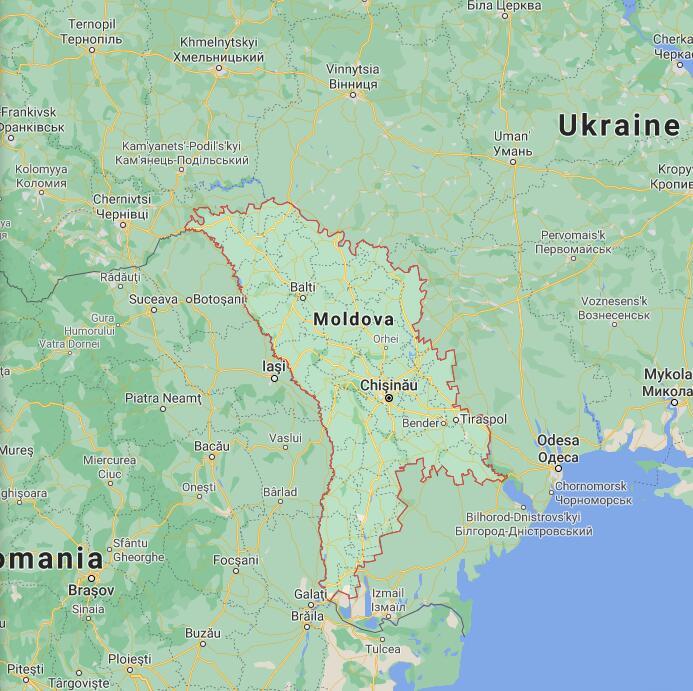 Moldova Border Map