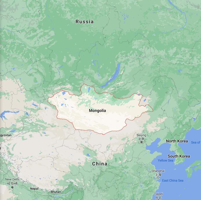 Mongolia Border Map