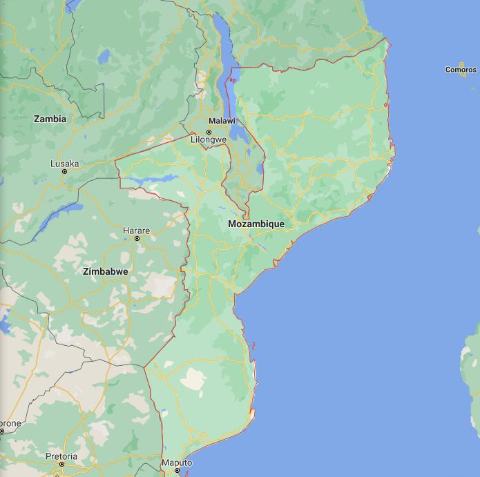 Mozambique Border Map