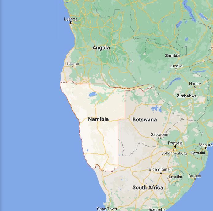 Namibia Border Map