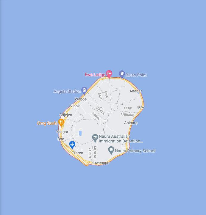 Nauru Border Map