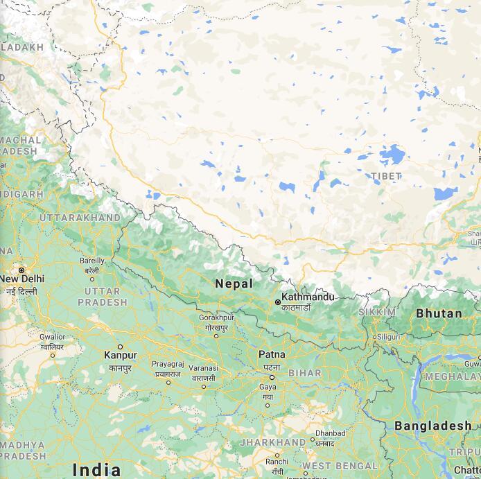 Nepal Border Map