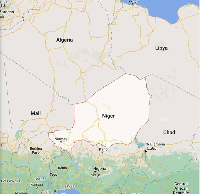 Niger Border Map