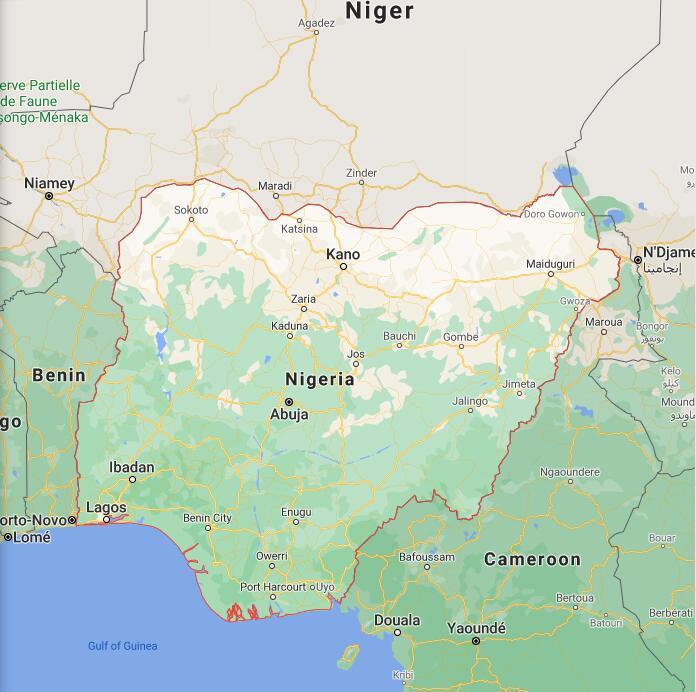 Nigeria Border Map