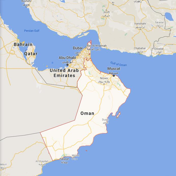 Oman Border Map