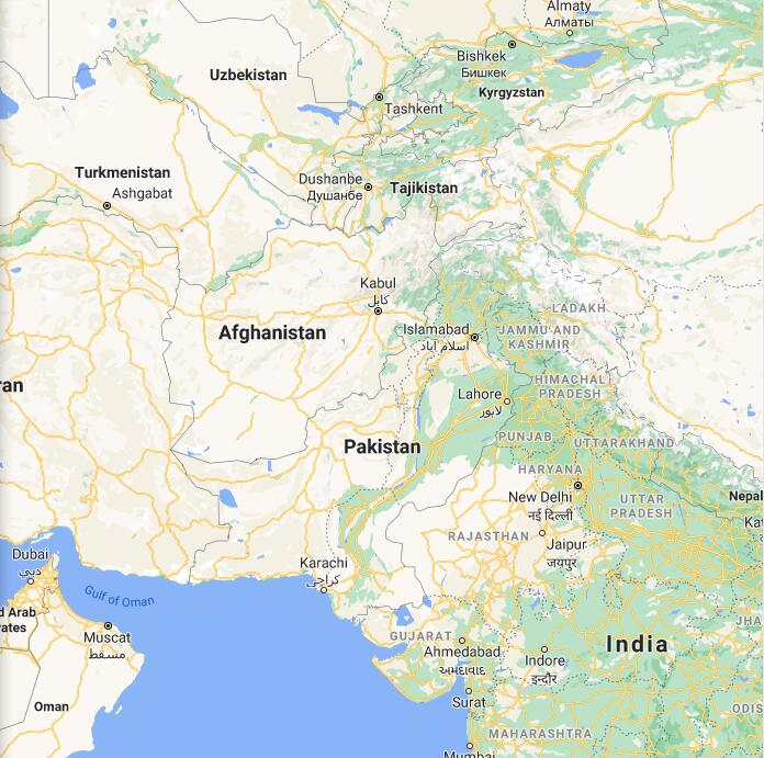Pakistan Border Map
