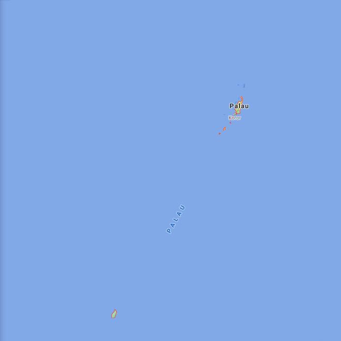 Palau Border Map