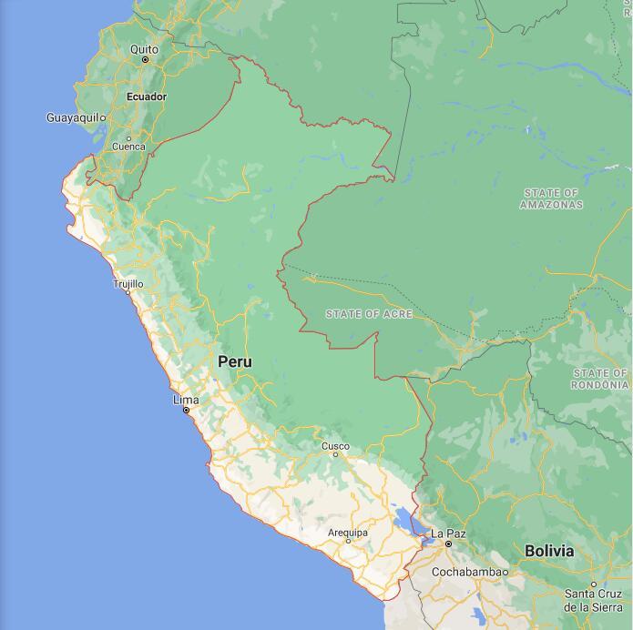 Peru Border Map