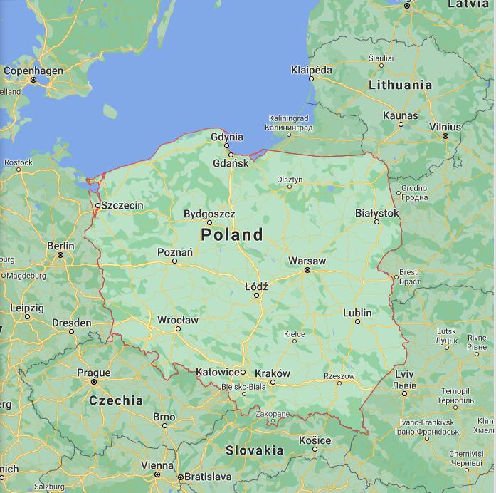 Poland Border Map