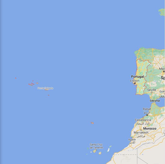 Portugal Border Map