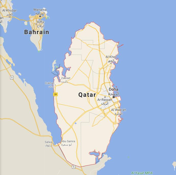 Qatar Border Map