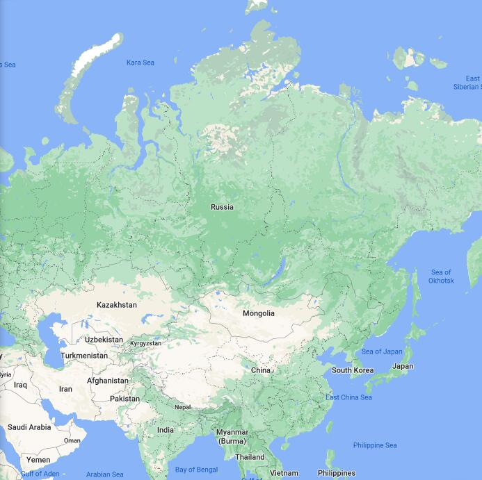 Russia Border Map