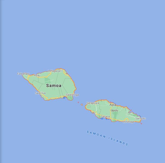 Samoa Border Map