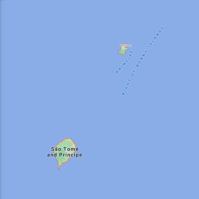 Sao Tome and Principe Border Map