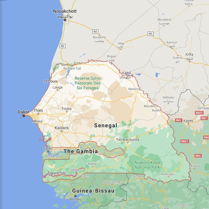Senegal Border Map