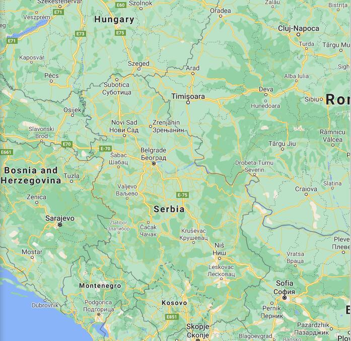 Serbia Border Map