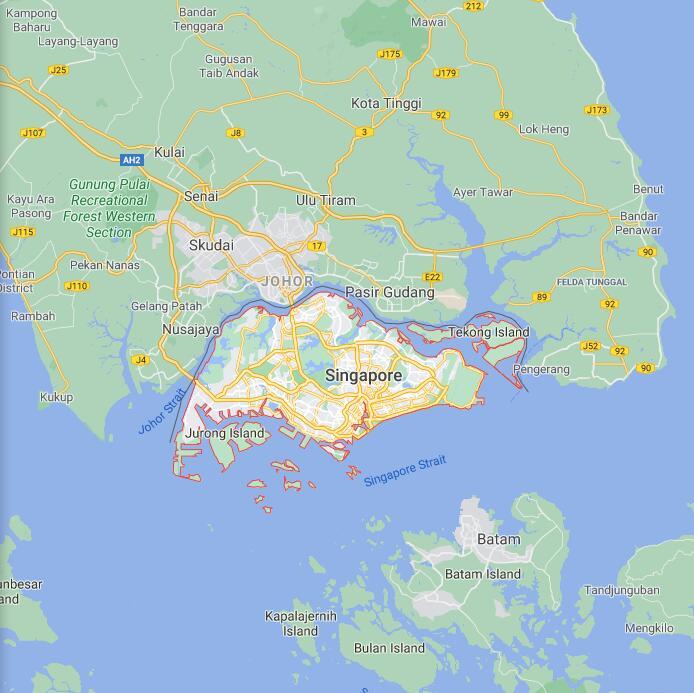 Singapore Border Map