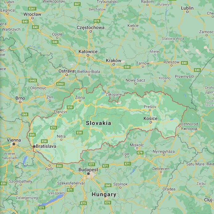Slovakia Border Map