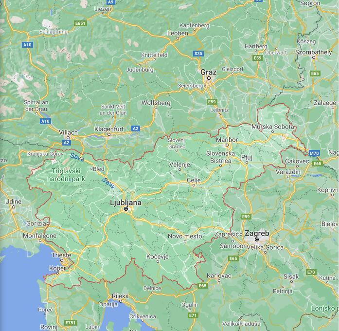 Slovenia Border Map