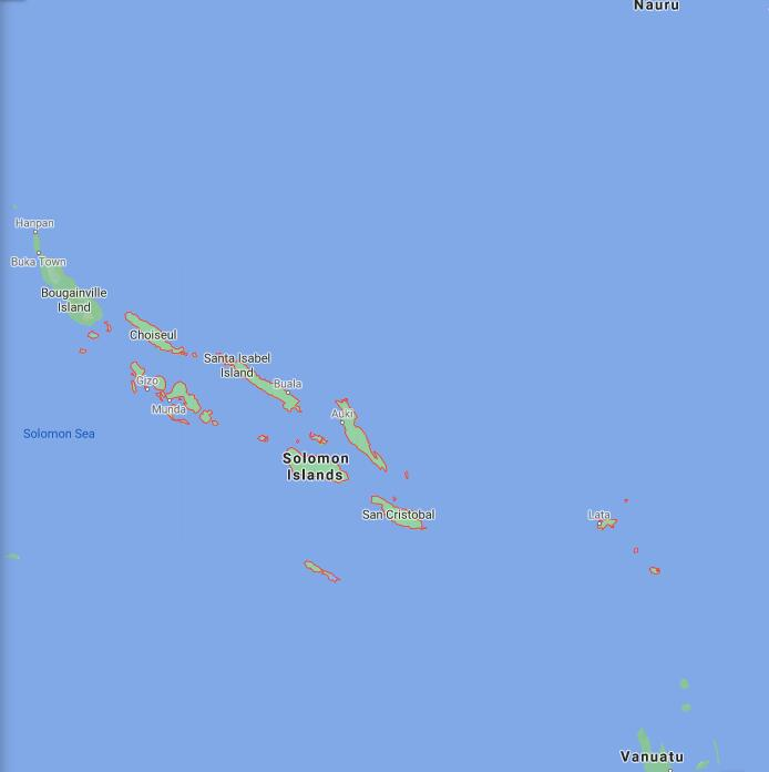 Solomon Islands Border Map
