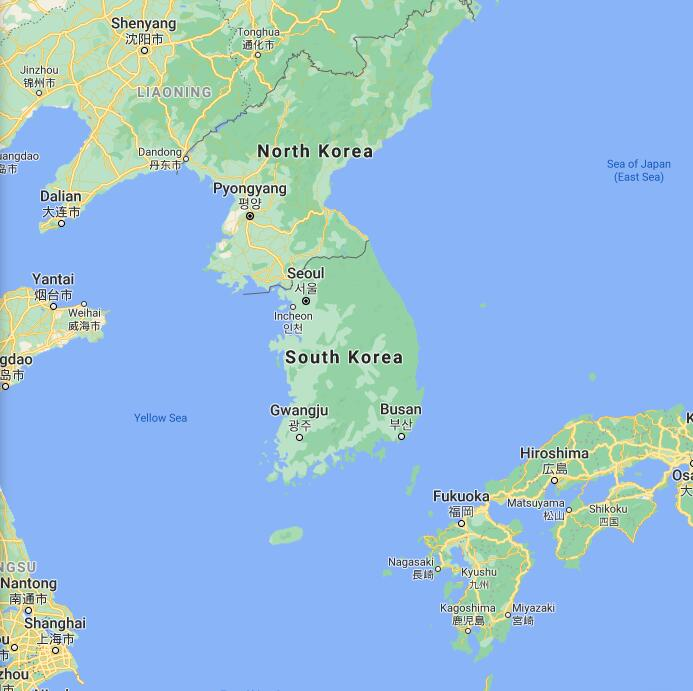 South Korea Border Map