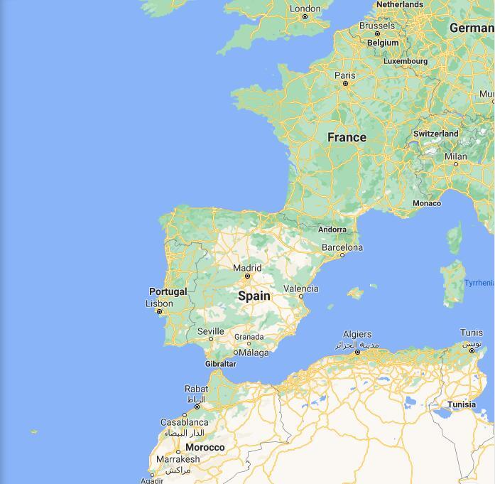 Spain Border Map