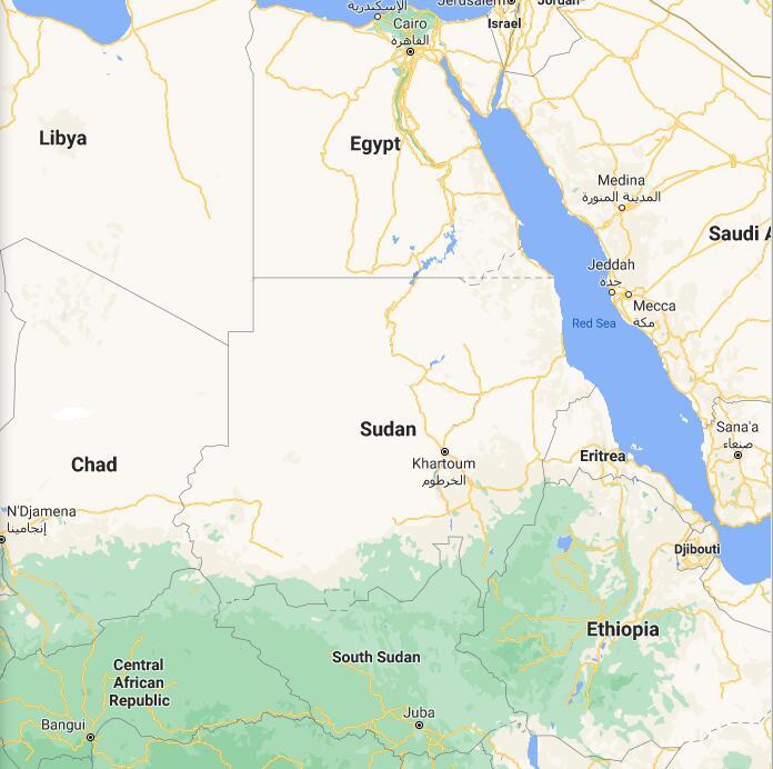 Sudan Border Map