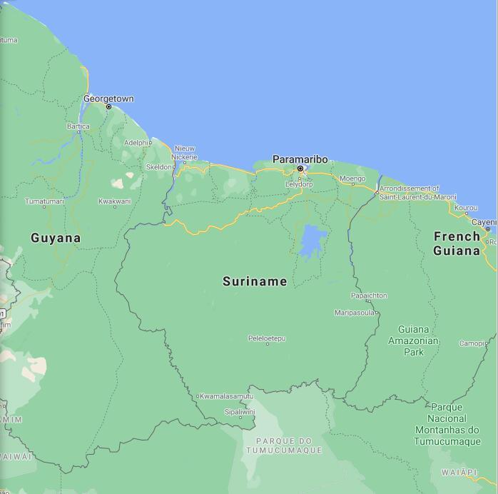 Suriname Border Map