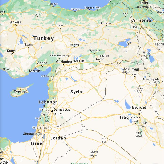 Syria Border Map