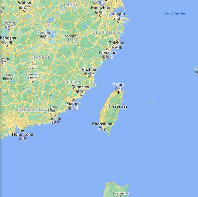 Taiwan Border Map