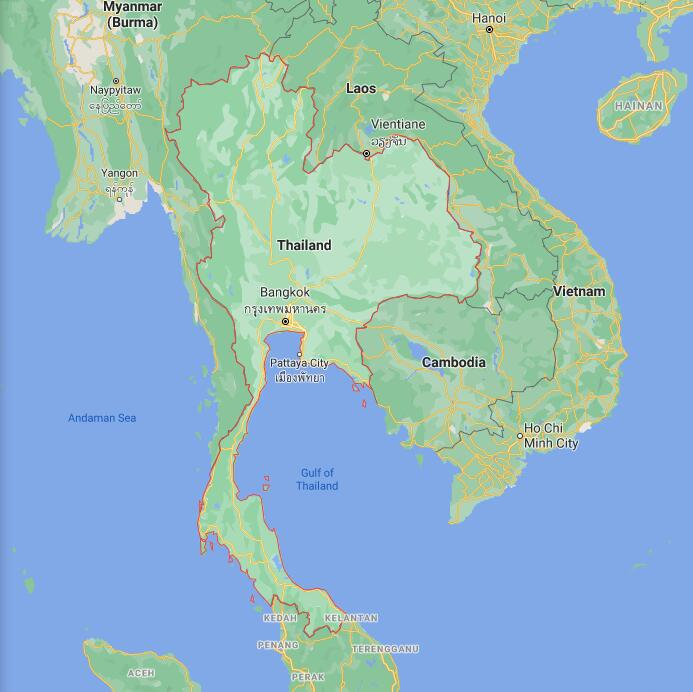 Thailand Border Map