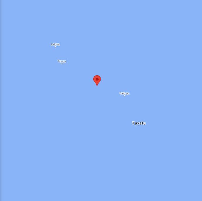 Tuvalu Border Map