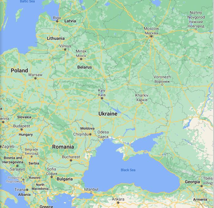 Ukraine Border Map