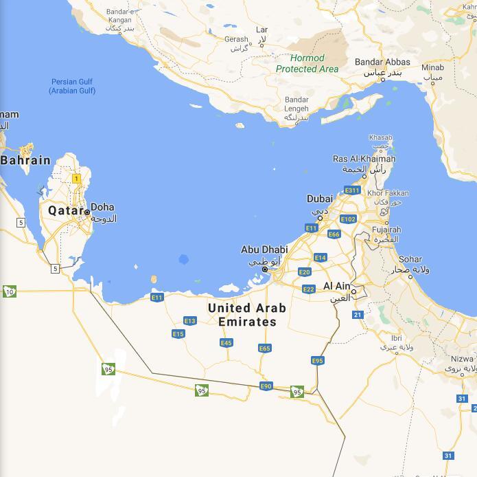 United Arab Emirates Border Map