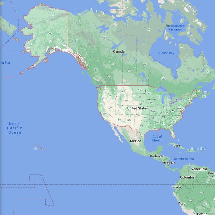 United States Border Map