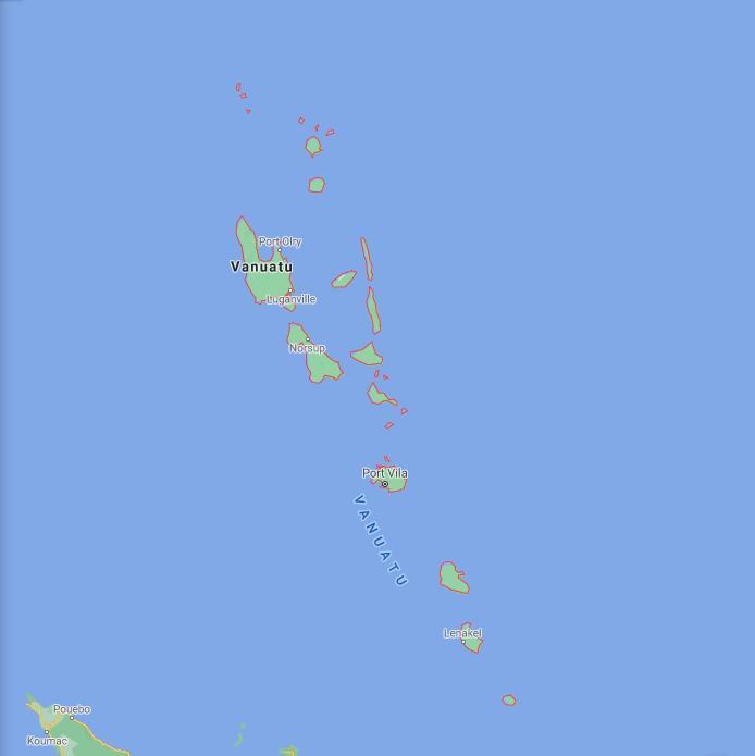 Vanuatu Border Map