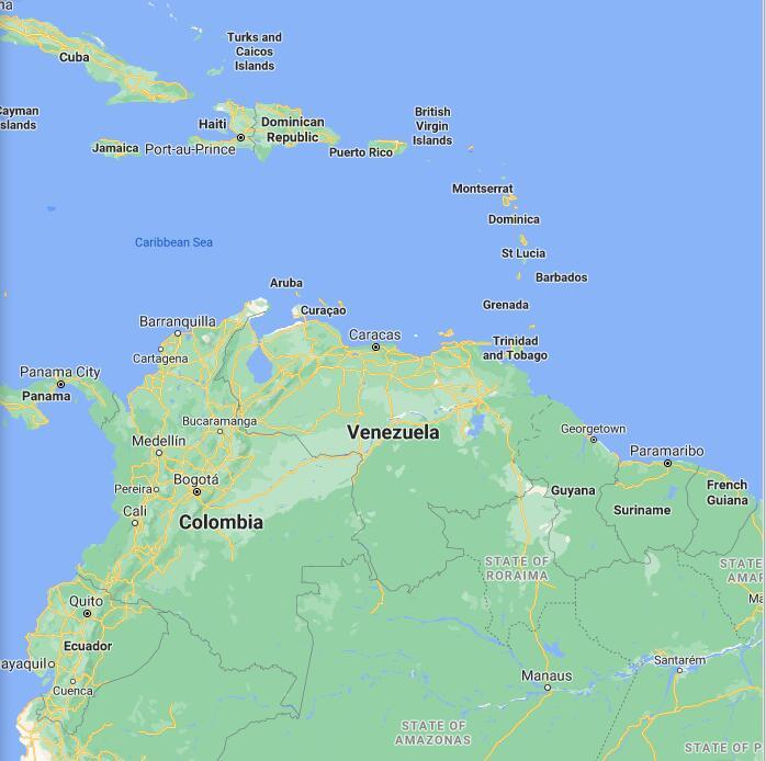 Venezuela Border Map