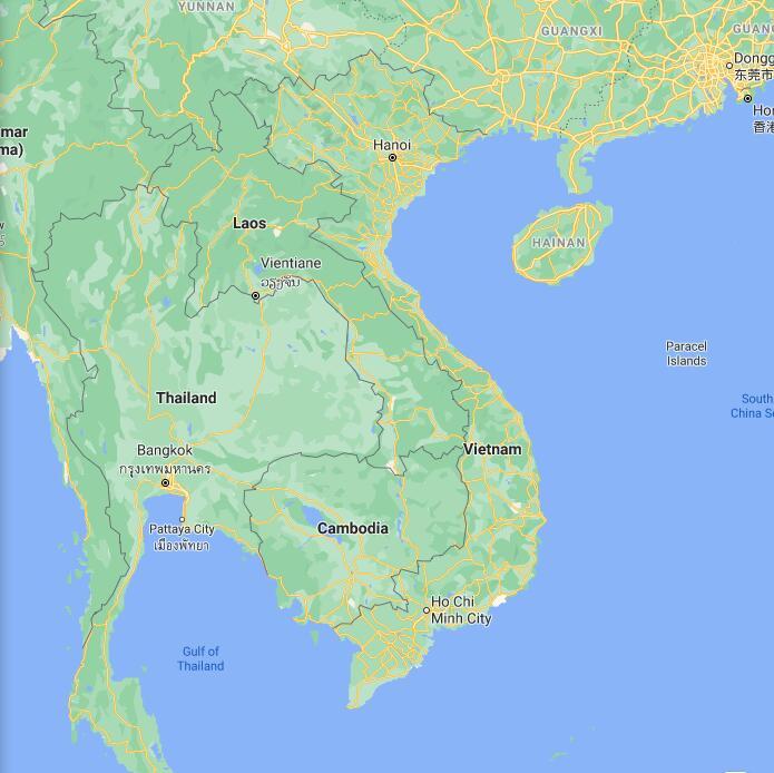 Vietnam Border Map