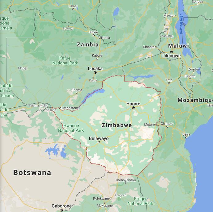 Zimbabwe Border Map